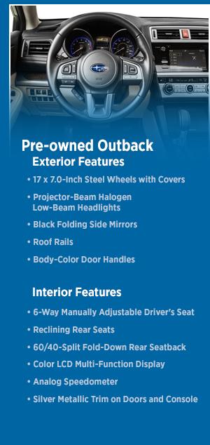 2016 CPO Outback Model Information & Details | San Diego Subaru Sales