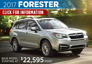 Click For 2017 Subaru Forester Model Details in Salem, OR