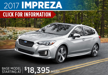 Click For 2017 Subaru Impreza Model Details in Shingle Springs, CA