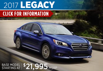 View details on the New 2017 Subaru Legacy at Renick Subaru in Fullerton, Serving Long Beach, CA