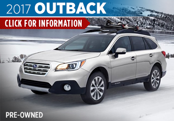 Click For 2017 Subaru Outback Model Details in Shingle Springs, CA