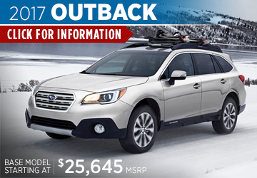 View details on the New 2017 Subaru Outback at Renick Subaru in Fullerton, Serving Long Beach, CA