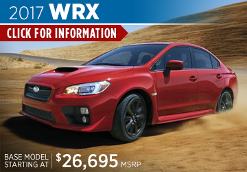 Click to research the new 2017 Subaru WRX model serving Sacramento, CA