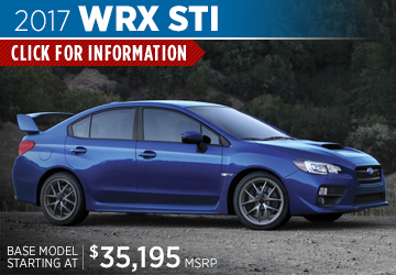 Click to research the new 2017 Subaru WRX STI model serving Sacramento, CA