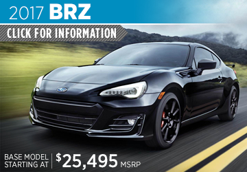 Click to View 2017 Subaru BRZ Information