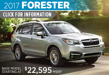 Click to research the new 2017 Subaru Forester model in Bloomington-Normal, IL