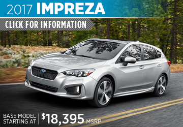Click to research the new 2017 Subaru Impreza model in Bloomington-Normal, IL