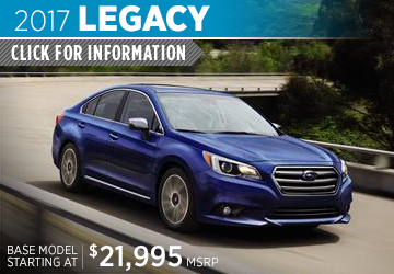Click to research the new 2017 Subaru Legacy model in Bloomington-Normal, IL