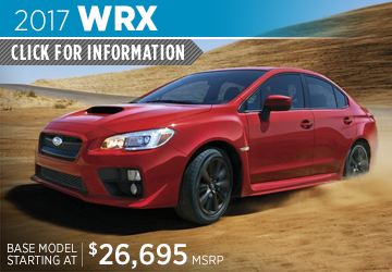 Click to Learn More About the 2017 Subaru WRX