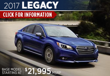 Click For 2017 Subaru Legacy Model Information  Serving San Francisco, CA