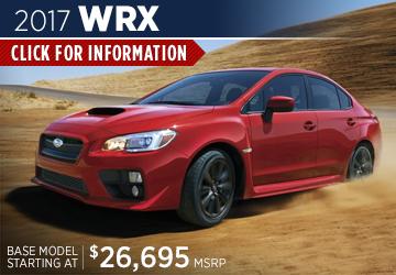 Click to research the 2017 Subaru WRX model serving San Francisco, CA
