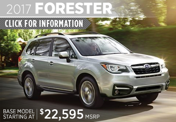 Click to learn more about the rugged new 2017 Subaru Forester in San Diego, CA