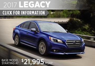 Click to research the new 2017 Subaru Legacy model in San Diego, CA