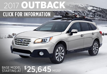 Click to learn  more about the versatile new 2017 Subaru Outback in San Diego, CA