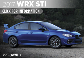 Click to research the 2017 Subaru CPO WRX STI model in San Diego, CA