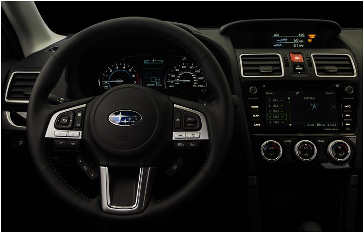 2017 Subaru Forester model interior style & design