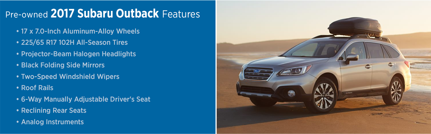 Pre Owned 2017 Outback Info Subaru Model Information
