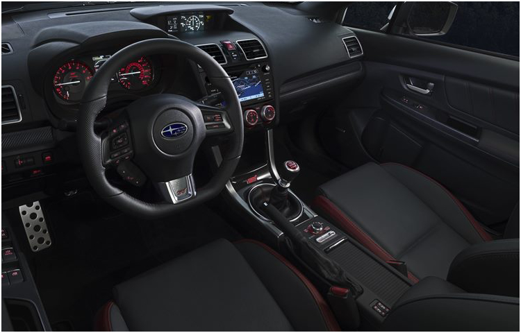 2017 Subaru WRX STI Model Interior Style & Design