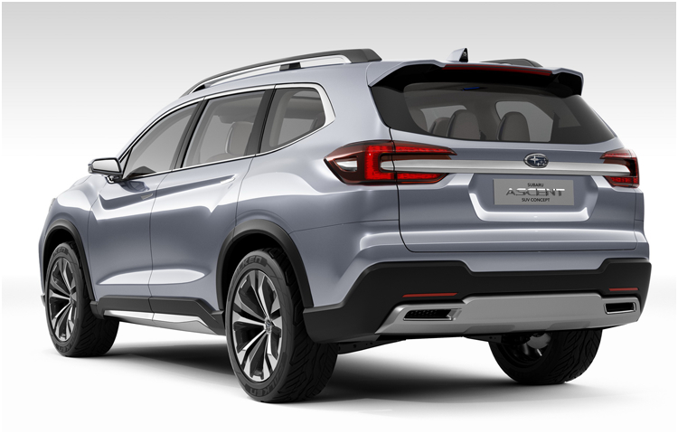 2018 Subaru Ascent Concept Model Exterior Design
