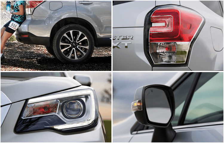 Research the 2018 Subaru Forester model exterior features
