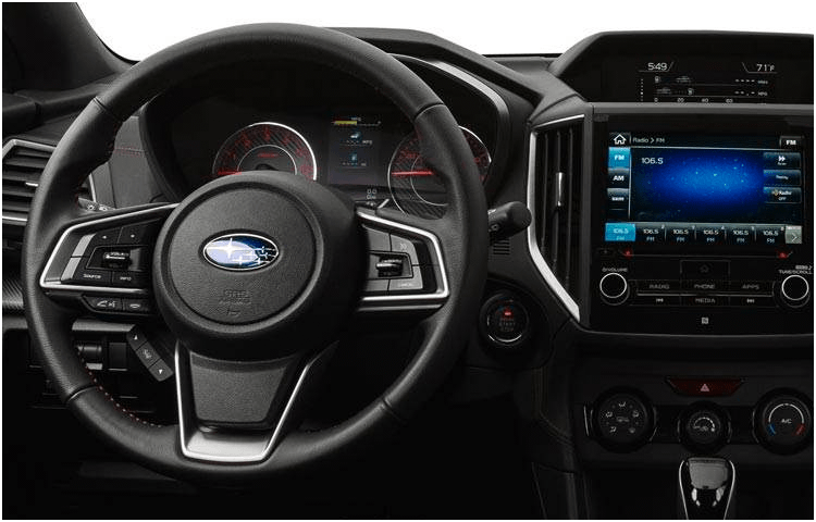 2018 Subaru Impreza Sedan Interior Design