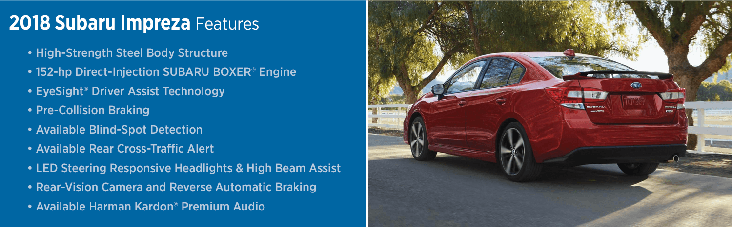 Learn about the 2018 Subaru Impreza model features
