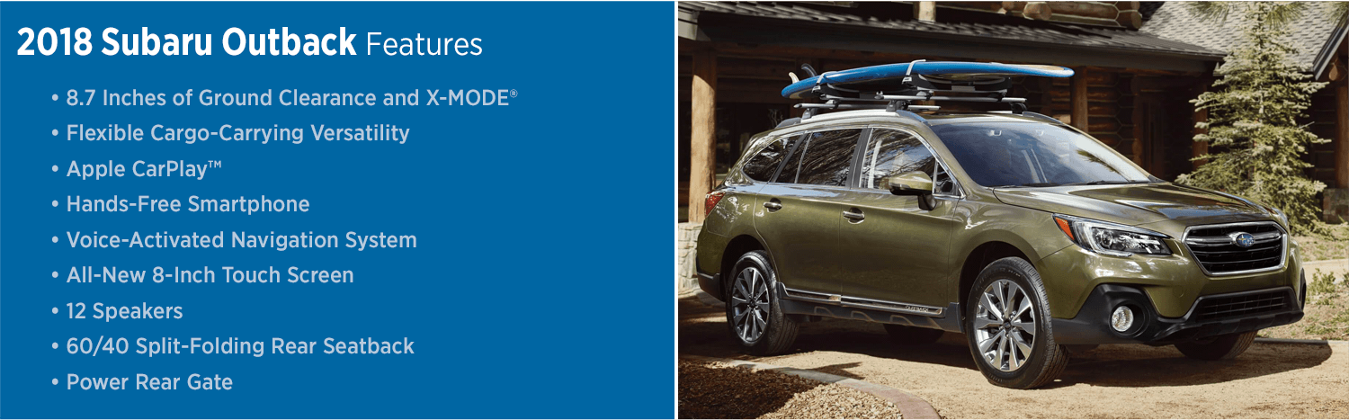 Review the New 2018 Subaru Outback Features List