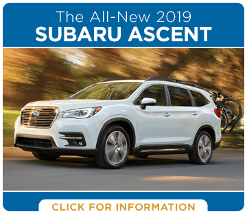 Click to research the exciting new 2019 Subaru Ascent model at Carter Subaru Shoreline serving Seattle, WA
