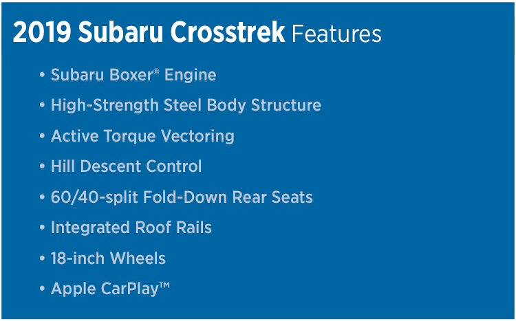 2019 Subaru Crosstrek Features