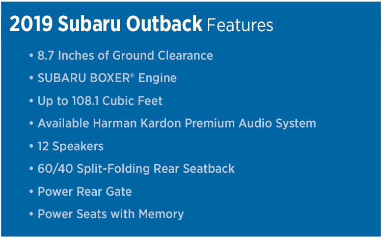 Review The New 2019 Subaru Outback Model Features