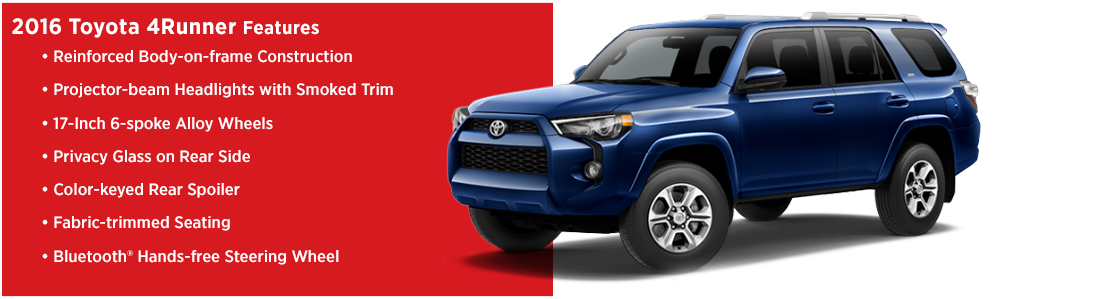 2016 Toyota 4Runner Model Features