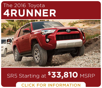Click to Research The New 2016 Toyota 4Runner Model in Tacoma, WA