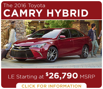 Click to learn more about the new 2016 Toyota Camry Hybrid model