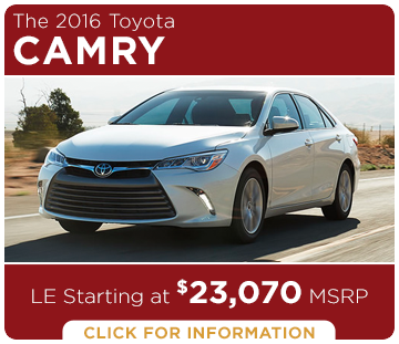 Click to Research The New 2016 Toyota Camry Model in Tacoma, WA