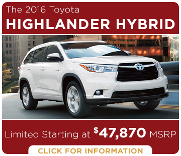 Click to learn more about the new Toyota Highlander Hybrid model