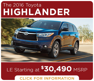 Click to Research The New 2016 Toyota Highlander Model in Tacoma, WA