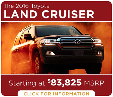 Click to Research The New 2016 Toyota Land Cruiser Model in Tacoma, WA