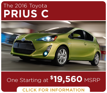 Click to learn more about the new 2016 Toyota Prius c model