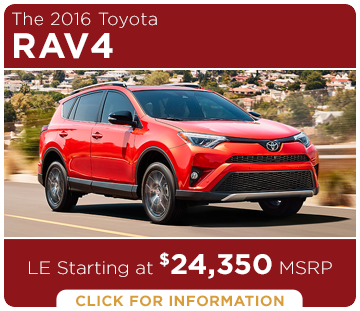 Click to Research The New 2016 Toyota RAV4 Model in Tacoma, WA