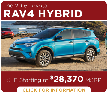 Click to learn more about the new 2016 Toyota RAV4 Hybrid model