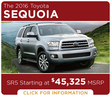 Click to Research The New 2016 Toyota Sequoia Model in Tacoma, WA