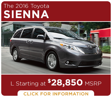 Click to Research The New 2016 Toyota Sienna Model in Tacoma, WA