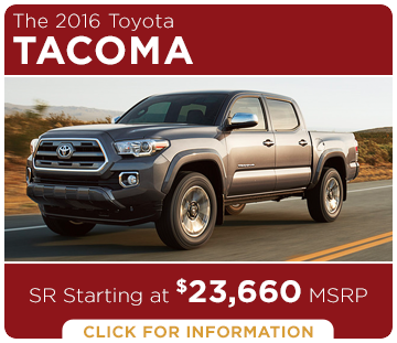 Click to Research The New 2016 Toyota Tacoma Model in Tacoma, WA