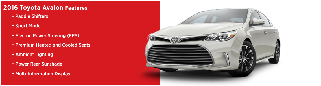 New 2016 Toyota Avalon Model Features