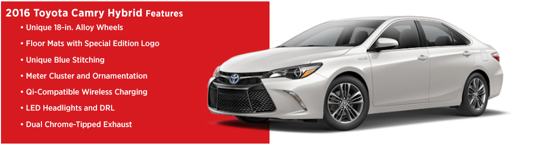 New 2016 Toyota Camry Hybrid Model Features