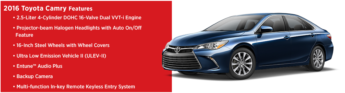 New 2016 Toyota Camry Model Features