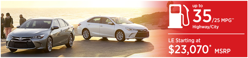 New 2016 Toyota Camry Model Mileage & MSRP