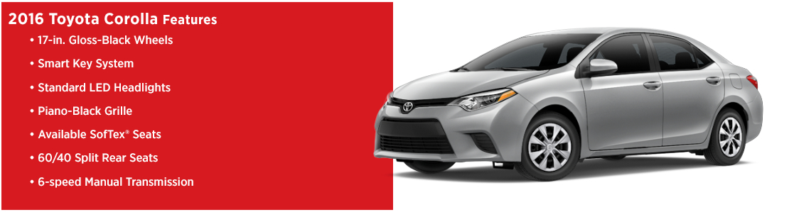 New 2016 Toyota Corolla Model Features