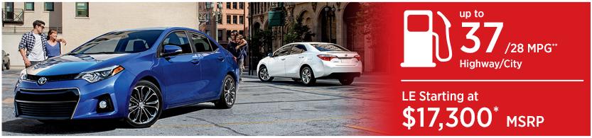 New 2016 Toyota Corolla Model Mileage & MSRP