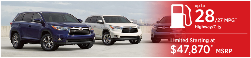 New 2016 Toyota Highlander Hybrid Model Mileage & MSRP